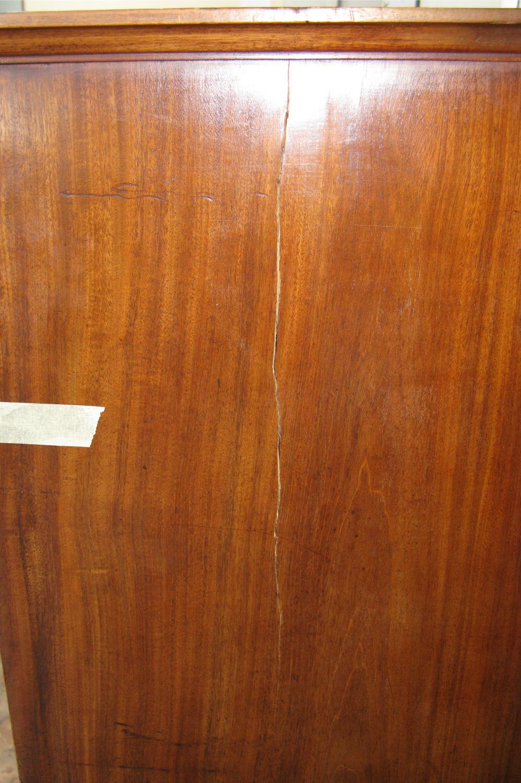 Restauration secrétaire Empire en placage de bois dacajou